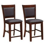 Contemporary Counter Height Stools Set of 2