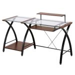 Contemporary Glass Top Computer Desk – Brisa