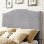 Contemporary Gray Full-Queen Upholstered Headboard – Bellingham