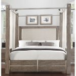 Contemporary Gray King Canopy Bed – Buena Vista