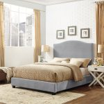 Contemporary Gray King Upholstered Bed – Bellingham