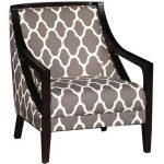 Contemporary Gray Pattern Accent Chair – Nigel