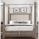 Contemporary Gray Queen Canopy Bed – Buena Vista