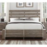 Contemporary Gray & Silver King Size Bed – Buena Vista