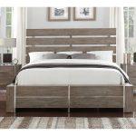 Contemporary Gray & Silver Queen Size Bed – Buena Vista