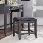 Contemporary Gray Vanity Bench – 5th Avenue
