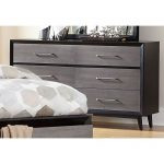 Contemporary Gray and Black Dresser – Raku