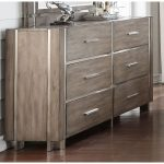 Contemporary Gray and Silver Dresser – Buena Vista