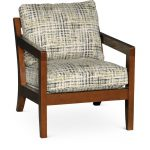 Contemporary Jungle Green & Wood Accent Chair – Hazel