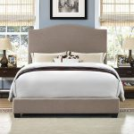 Contemporary Oatmeal King Upholstered Bed – Bellingham