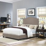 Contemporary Oatmeal Queen Upholstered Bed – Bellingham