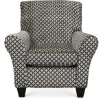 Contemporary Onyx Black & Gray Accent Chair – Paradigm