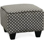 Contemporary Onyx Black & Gray Accent Ottoman – Paradigm