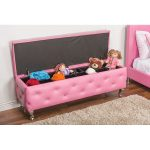 Contemporary Pink Storage Ottoman