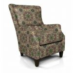 Contemporary Red and Green Wing Chair – Loren