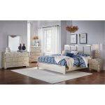 Contemporary Silver Satin 6-Piece King Bedroom Set – Divine