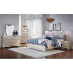 Contemporary Silver Satin 6-Piece Queen Bedroom Set – Divine