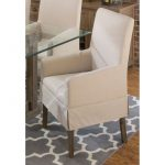 Contemporary Slipcover Dining Arm Chair – Hampton