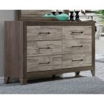 Contemporary Two-Tone Walnut Dresser – Jaren