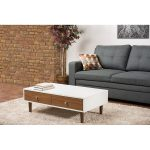 Contemporary Walnut/White Coffee Table