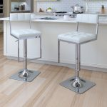 Contemporary White and Chrome Barstool