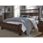 Cordovan Brown Traditional King Size Bed – Lucca