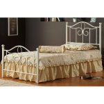 Cottage Style Off-White Twin Metal Bed – Westfield