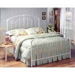 Cottage Style White King Metal Bed- Maddie