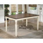 Cottage White and Brown Casual Dining Table – Whitesburg