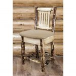Counter Height Barstool w/ Back – Buckskin Upholstery