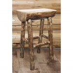 Counter Height Half Log Barstool