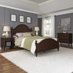 Country Comfort King Bed Two Nightstands, Chest