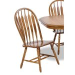 Country Oak Dining Room Chair with Turned Legs – Classic Chestnut.