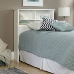 County Line Soft White Twin Bookcase Headboard