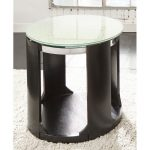 Crackle Glass Top Round End Table – Croften