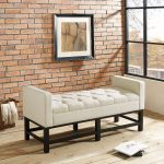 Cream Upholstered Bench – Claremont
