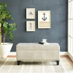 Cream Upholstered Bench – Desmond