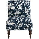 Crystal Lake Midnight Traditional Tufted Chair