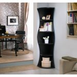 Curved Multiple Tier Corner Bookcase