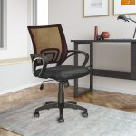 Dark Brown Mesh Back and Black Office Chair