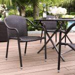 Dark Brown Stackable Outdoor Wicker Chairs (Set of 4) – Palm Harbor