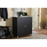 Dark Brown Storage Sideboard Cabinet
