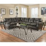 Dark Brown Upholstered Classic Contemporary 2-Piece Sectional – Lucky