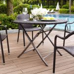 Dark Brown Wicker Folding Table – Palm Harbor