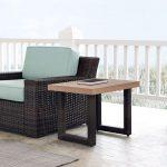 Dark Brown Wicker Side Table – Beaufort