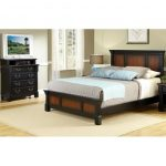 Dark Cherry Queen Bed and Media Chest of Drawers – Aspen
