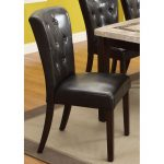 Dark Espresso Upholstered Dining Room Chair – Montreal Collection
