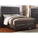 Dark Gray Casual Contemporary Queen Size Bed – Revolution