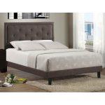 Dark Heather Upholstered King Size Bed – Becker