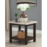 Dark Marble End Table – Montreal